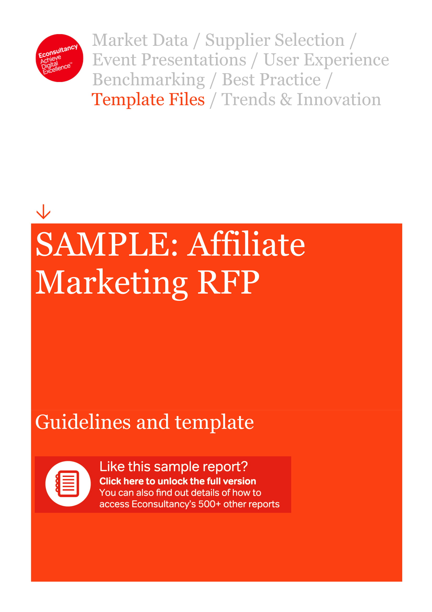 affiliate marketing business plan guideline and template example 1