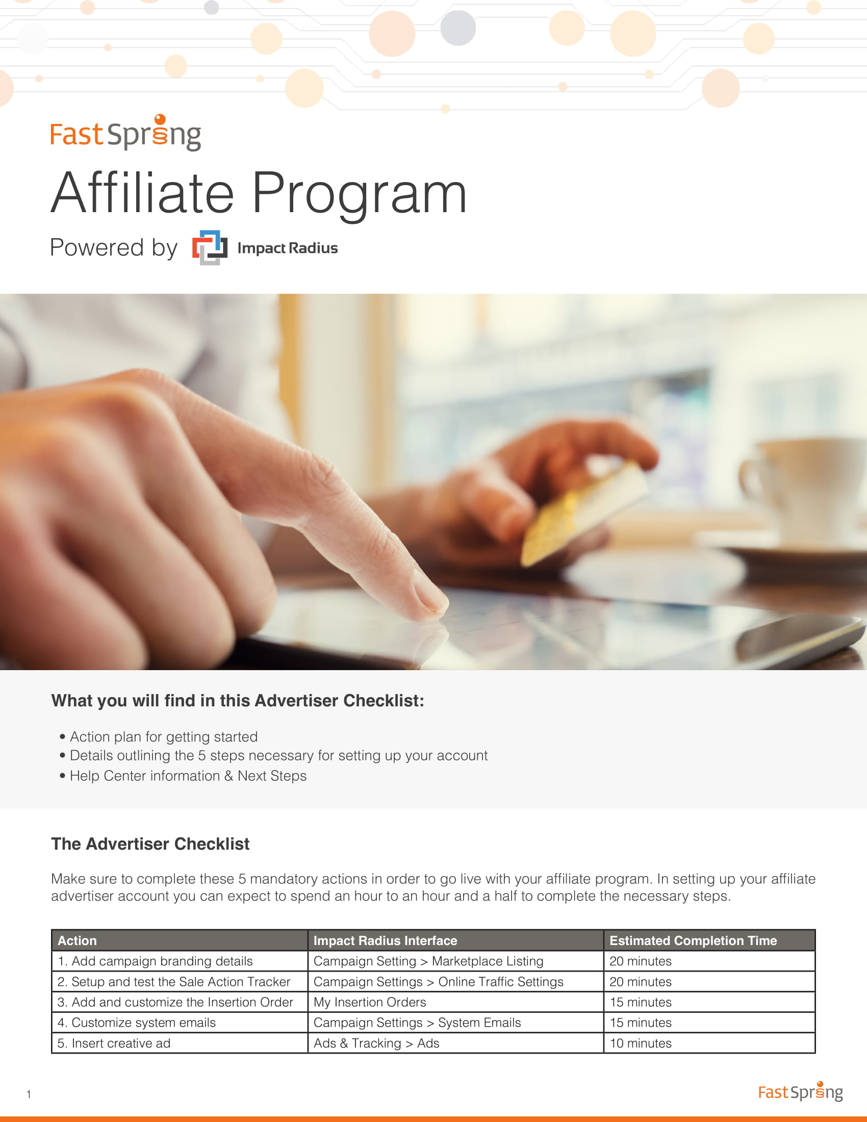 affiliate marketing program for business plan development example 1