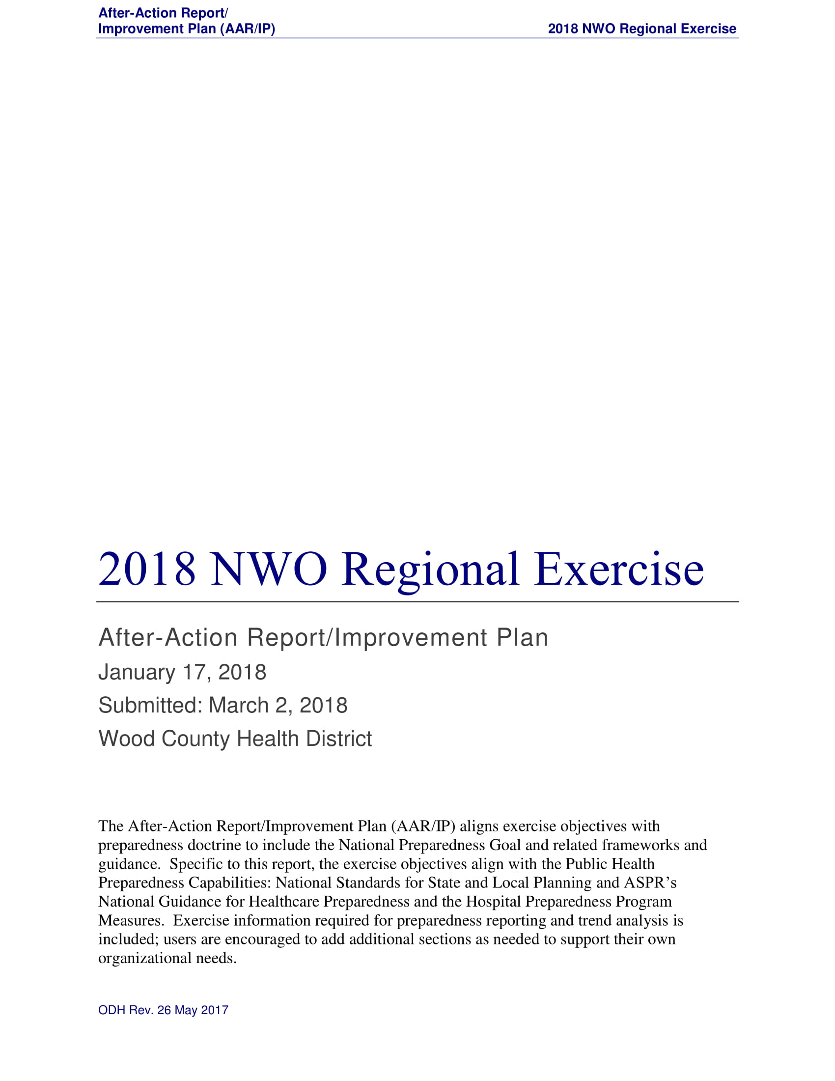 after action report with improvement plan example 01