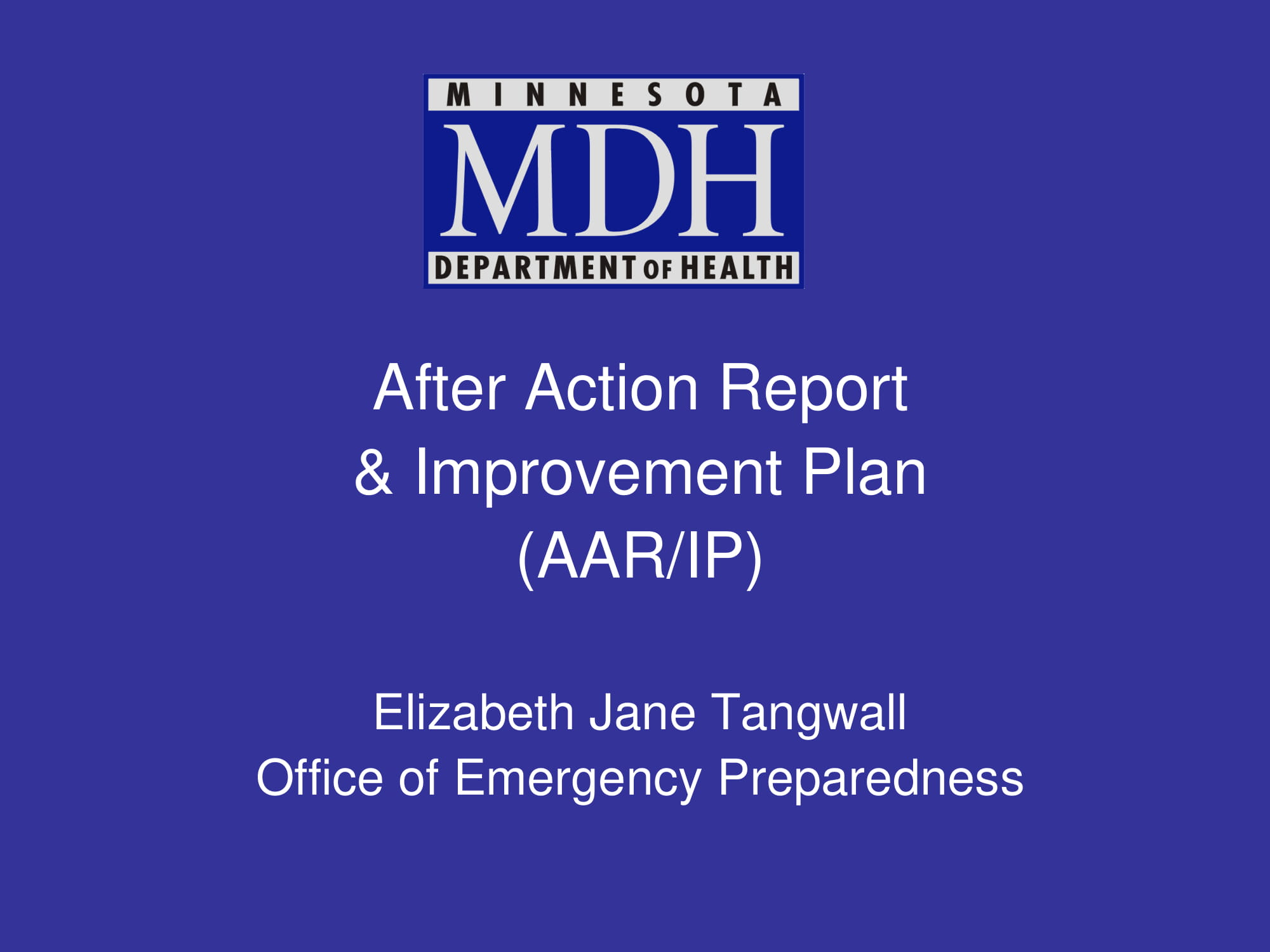after action report and improvement plan aar ip example 01