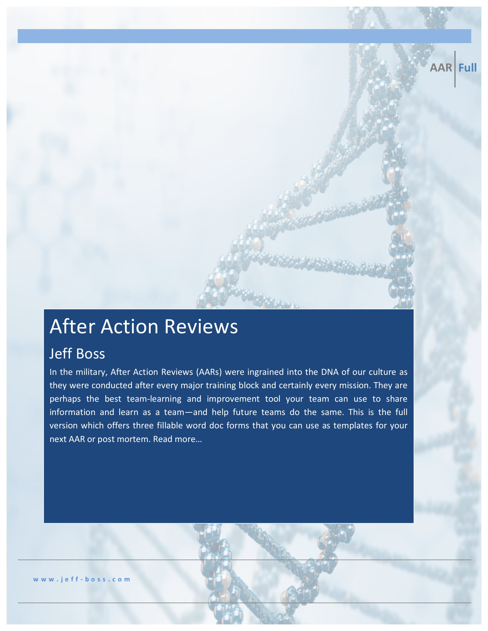 after action reviews and report example 01