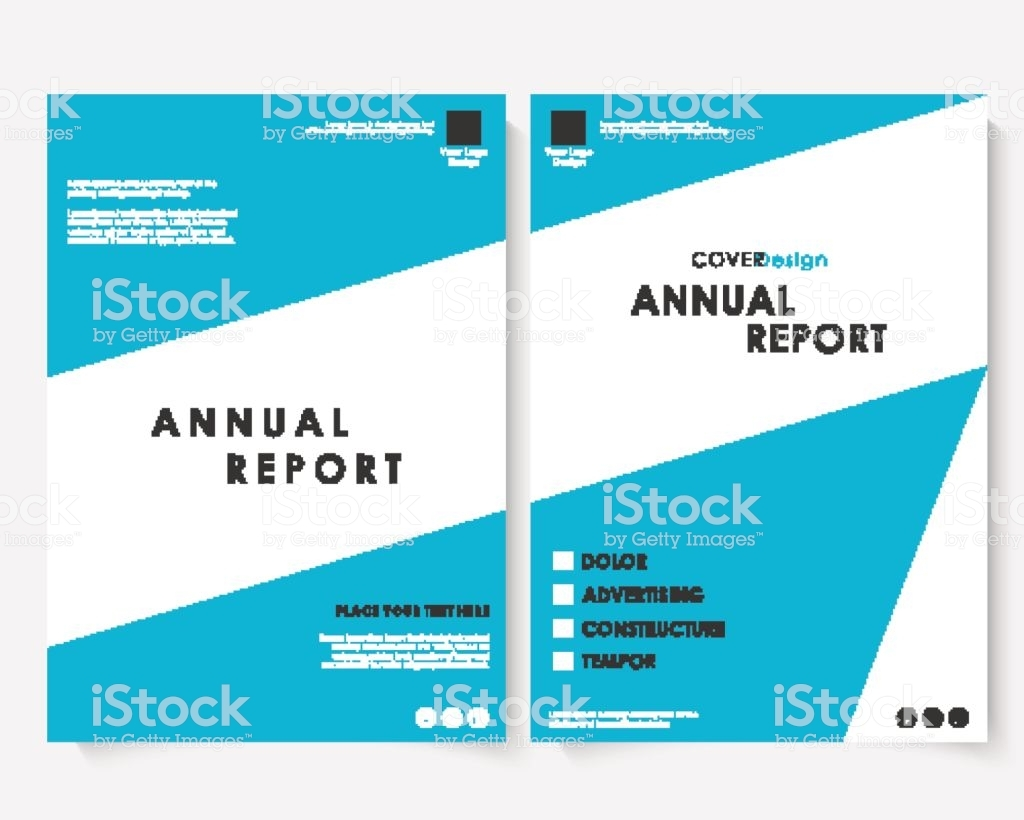 annual business report cover design