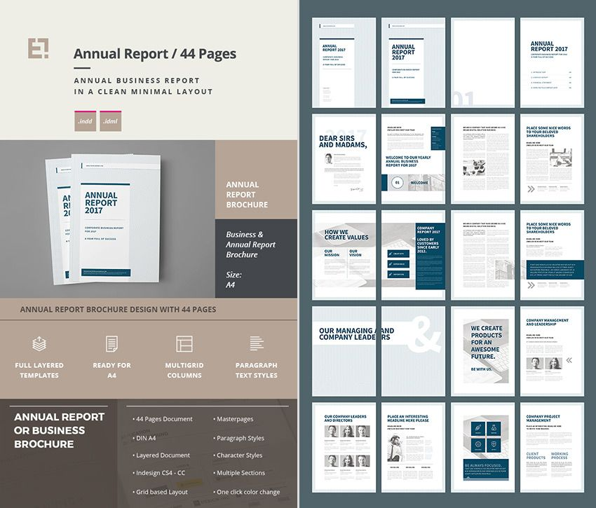 annual business report layout