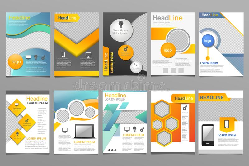 annual business report vector design