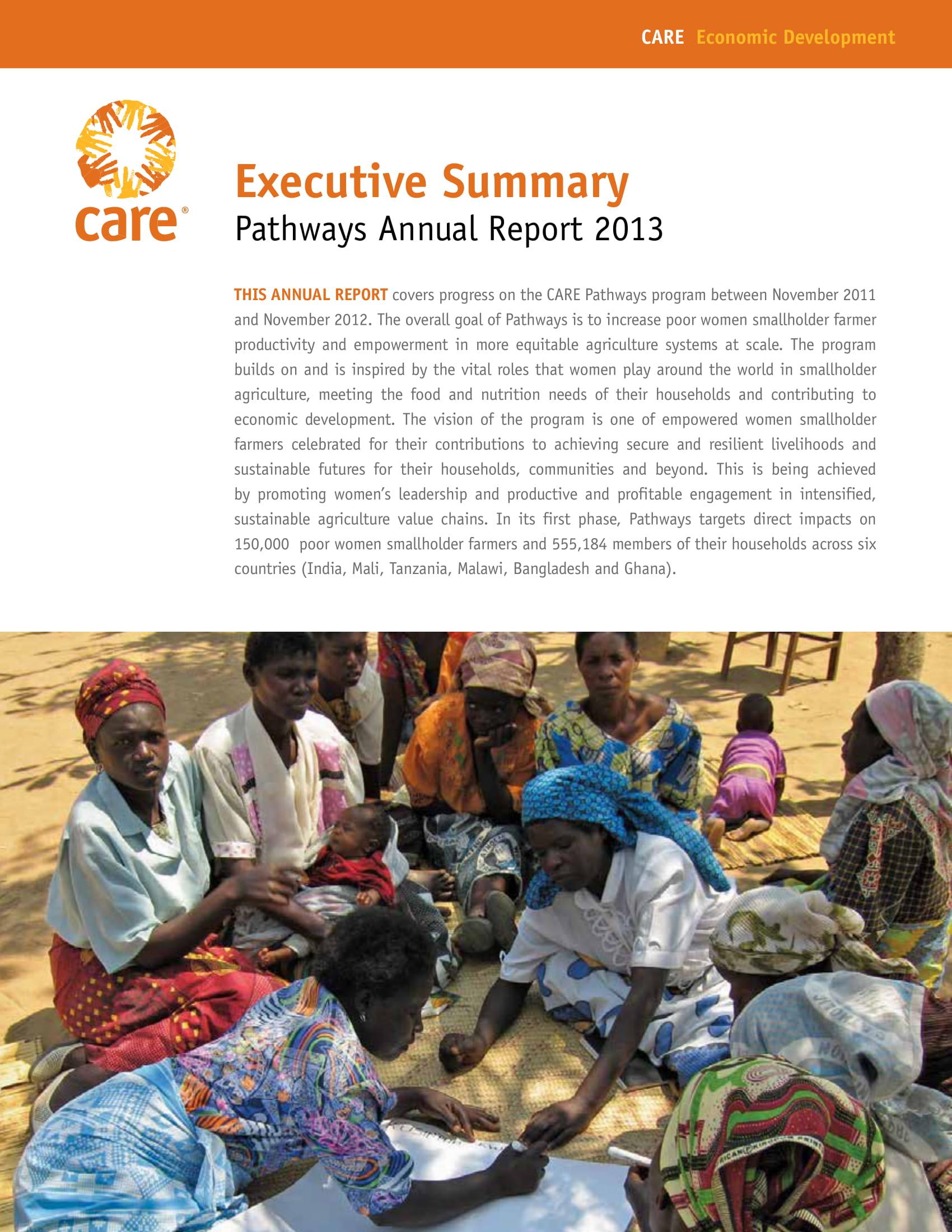 annual report execcutive summary example