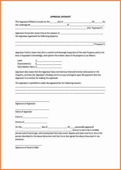 appraisal affidavit1