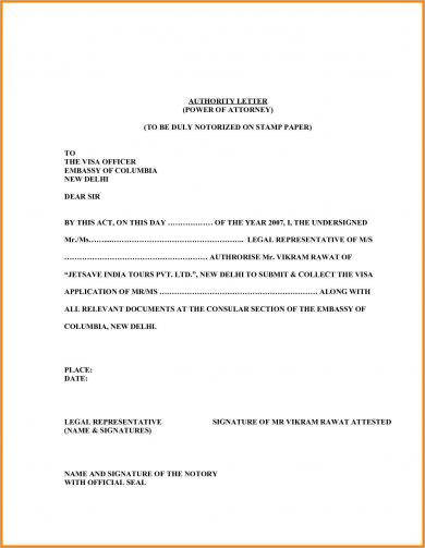 9 Legal Authorization Letter Examples Pdf Examples