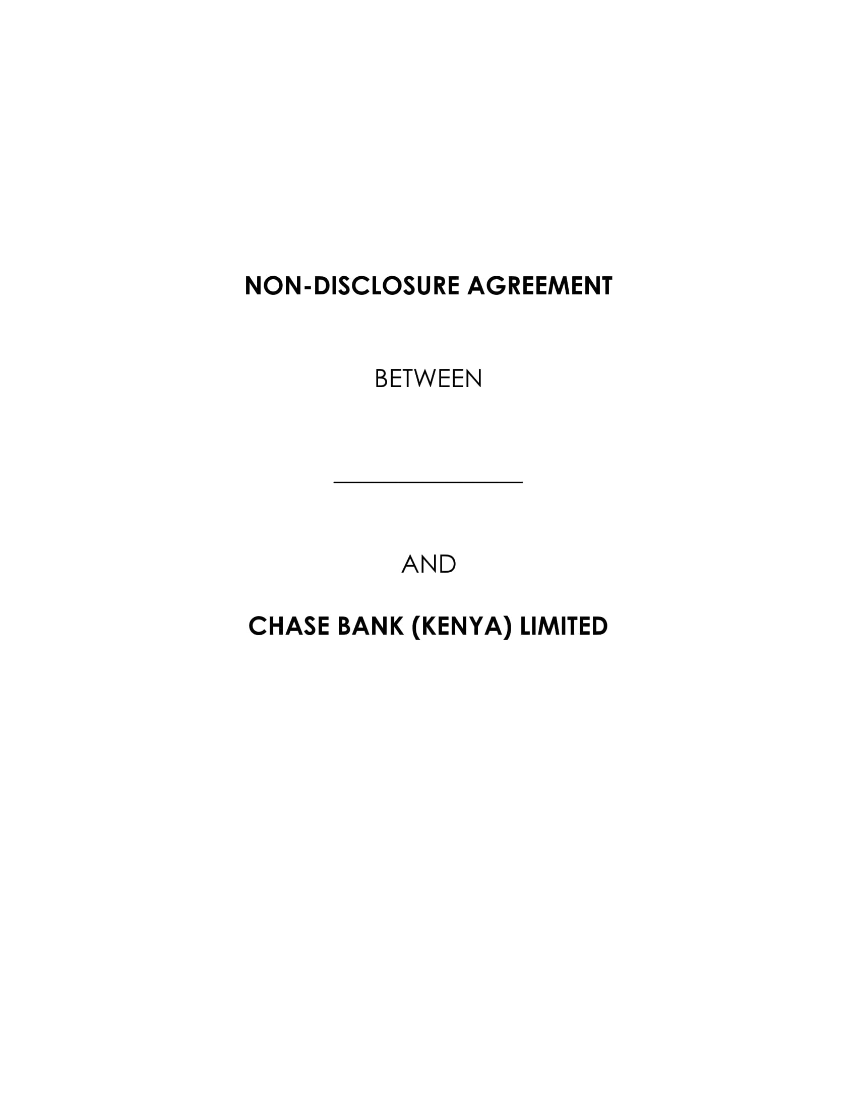 bank financial confidentiality agreement example