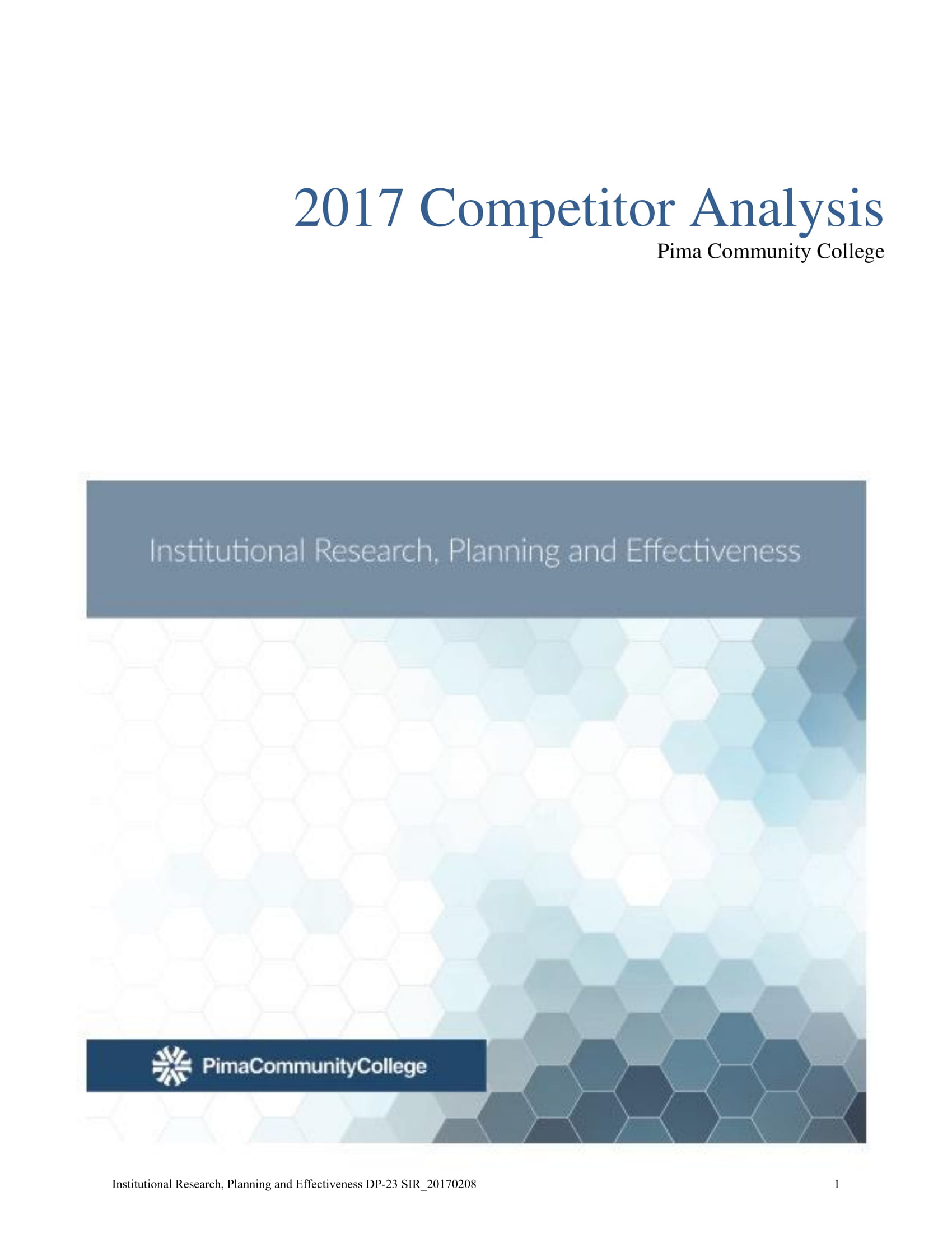 basic competitor analysis report example 01