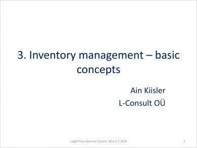basic concepts of inventory management example