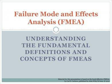basic failure mode and effects analysis example