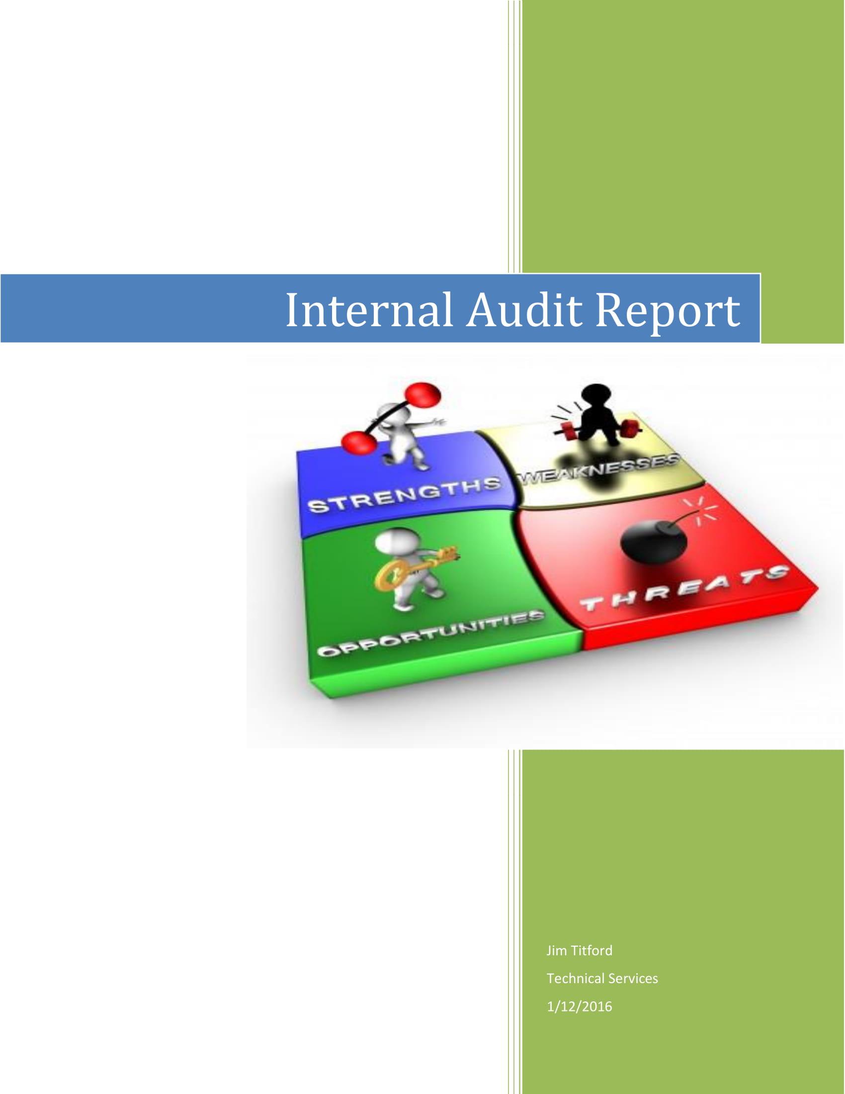 basic internal audit report example 1