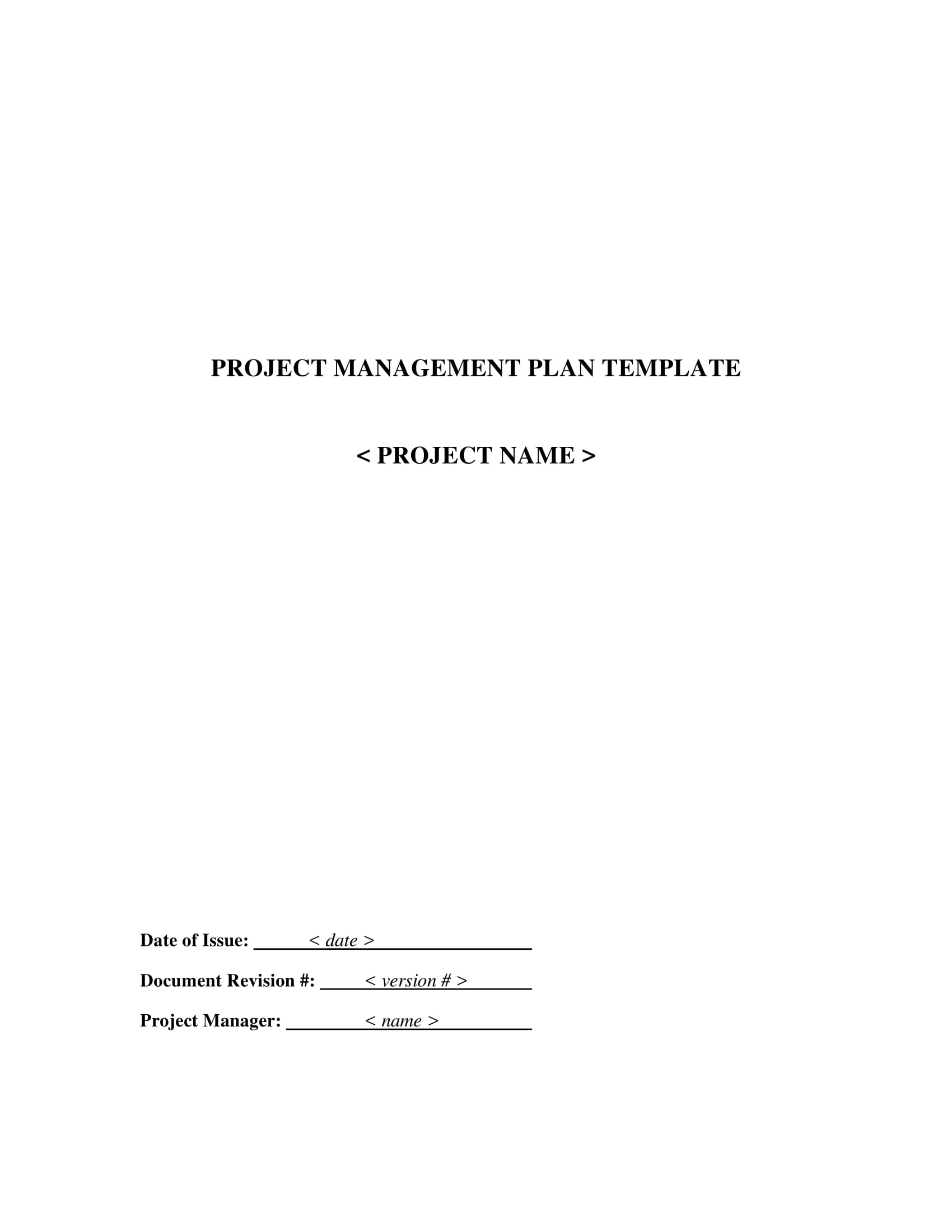 basic project management plan template example 01