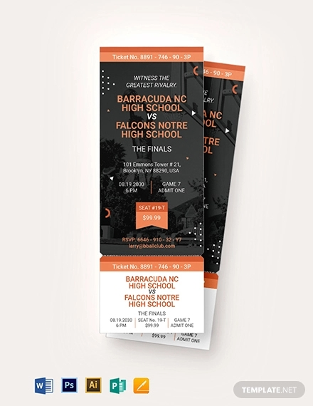 10 Basketball Ticket Invitation Card Designs Examples