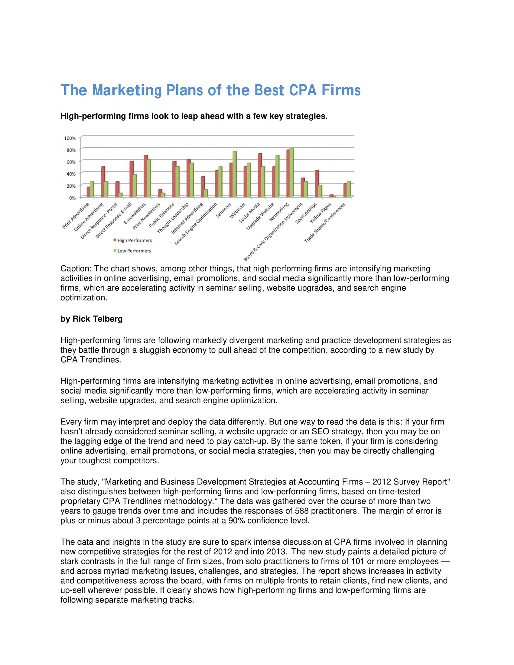 best accounting firm marketing plan example