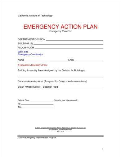 blank emergency action plan template1