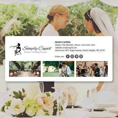 bridal and wedding planner email signature example1