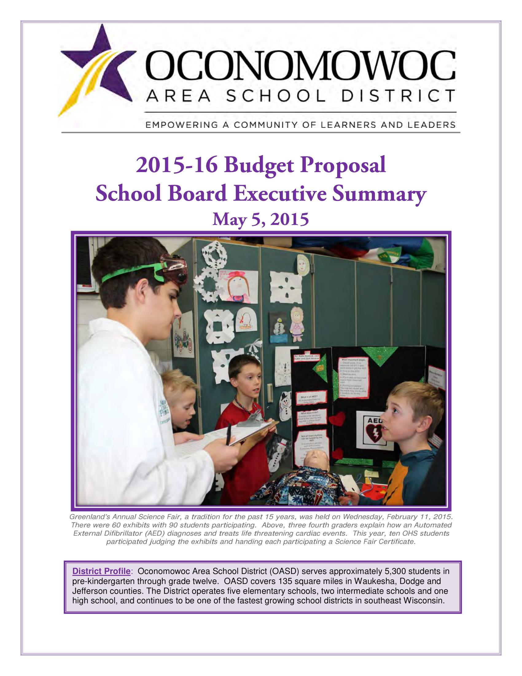 budget proposal school board executive summary example 01
