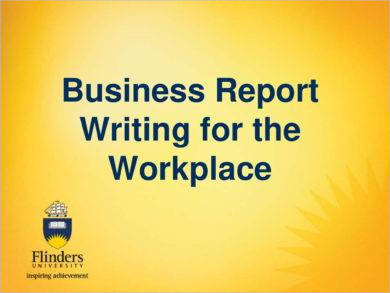 business report writing example