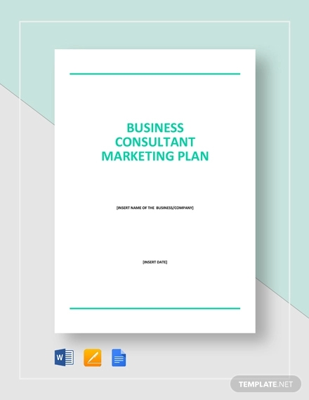 business consultant marketing plan