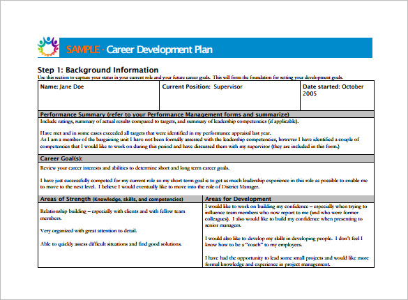 Career Development Plan Examples Suyhi Margarethaydon Com