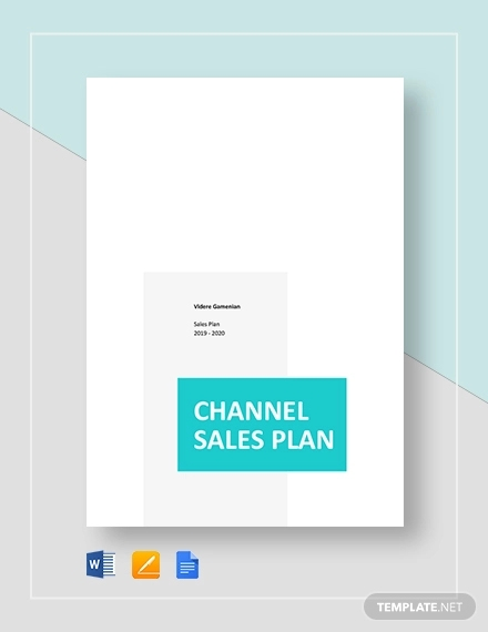 channel sales plan template