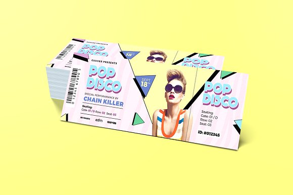 chic music event ticket example