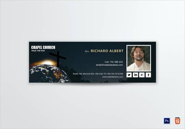 church email signature design example