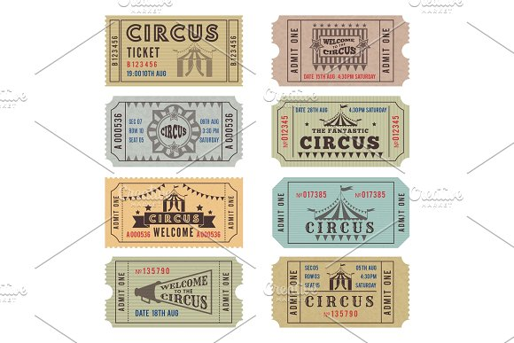 circus carnival ticket example