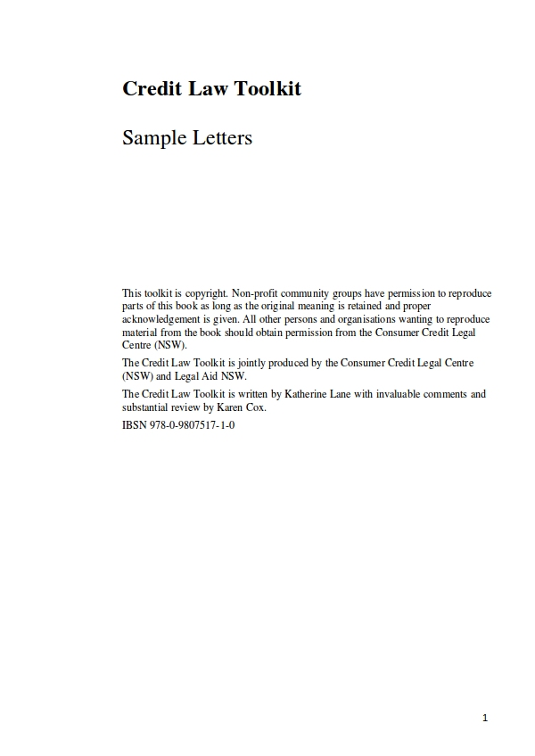 civil sample letters