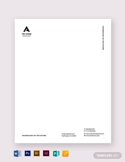 clean small business letterhead template
