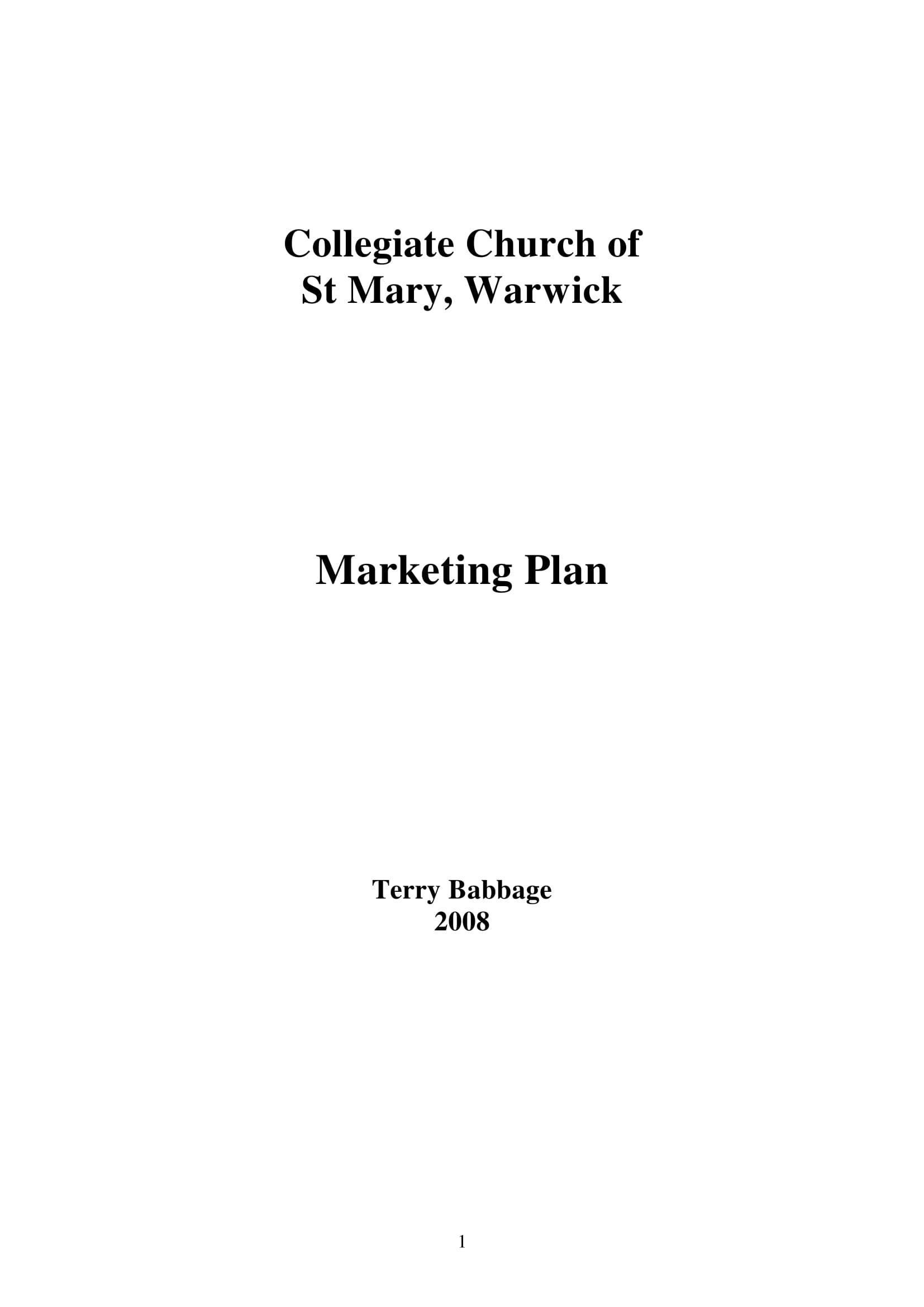 collegiate church marketing plan example 01
