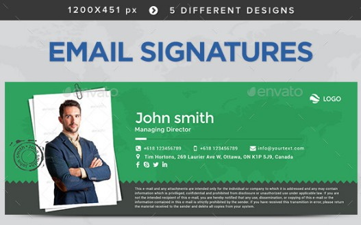 colorful photography email signature example
