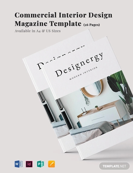 commercial interior design magazine template