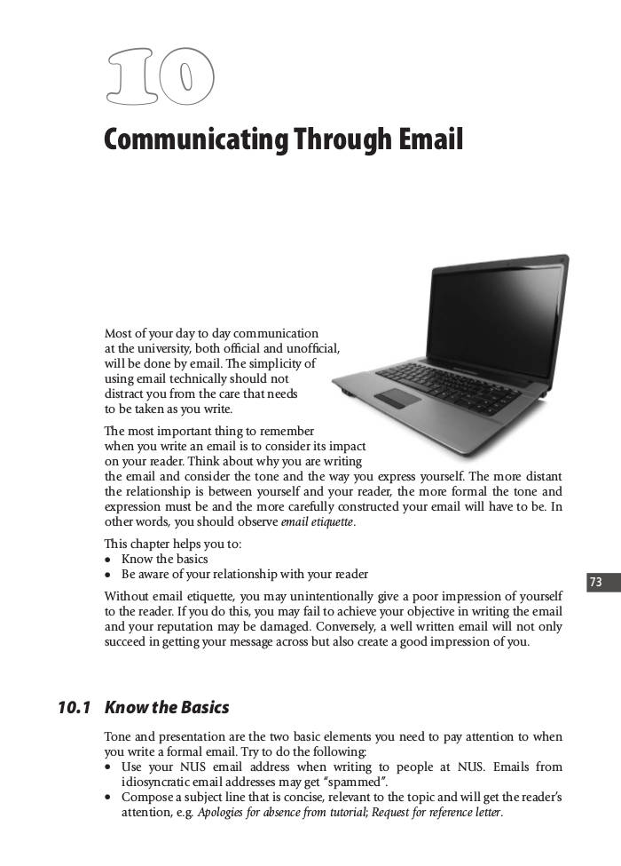 communicating through email