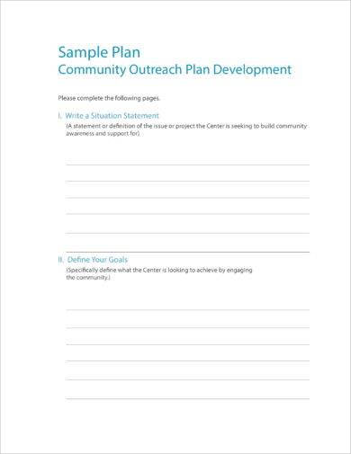 community outreach strategy plan example