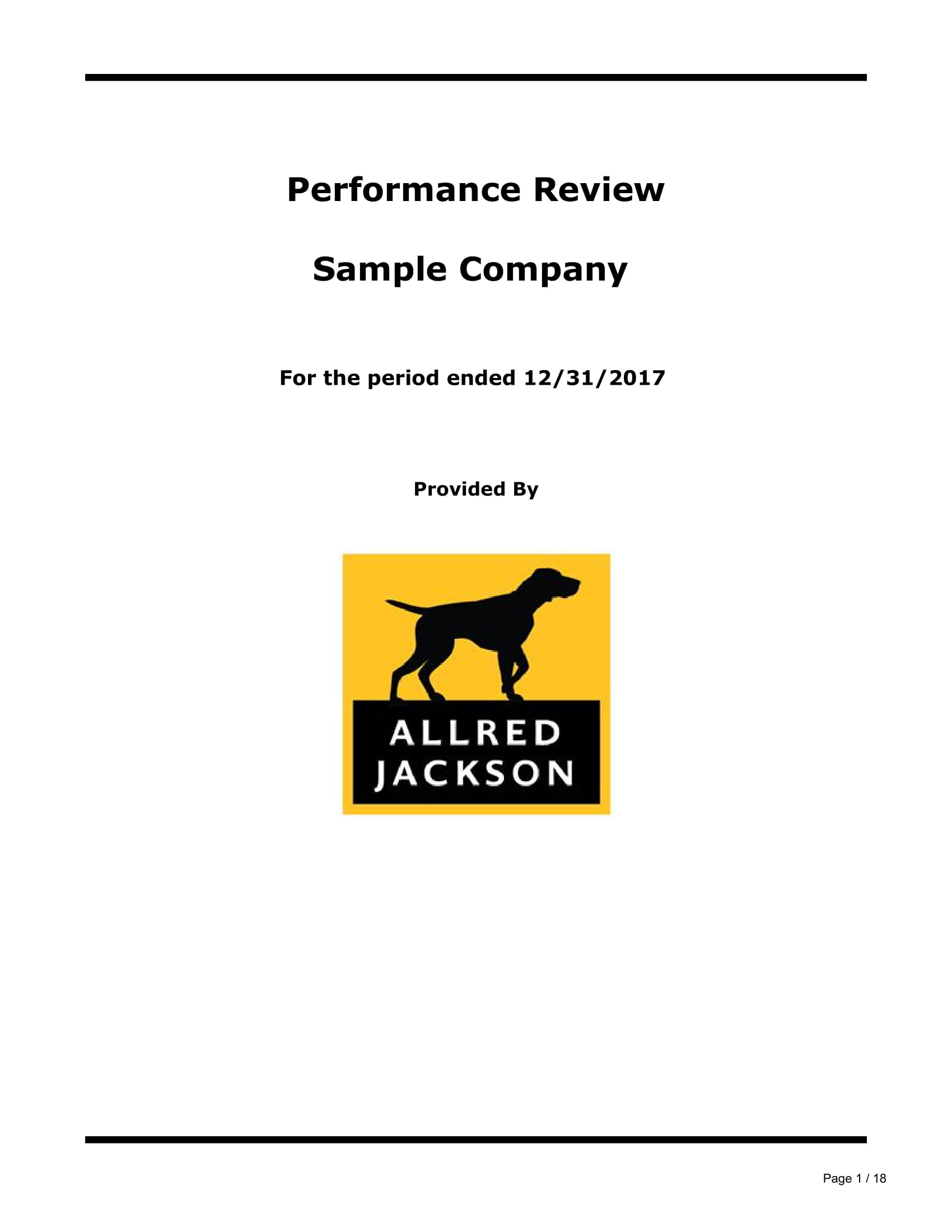 company performance review report example 01