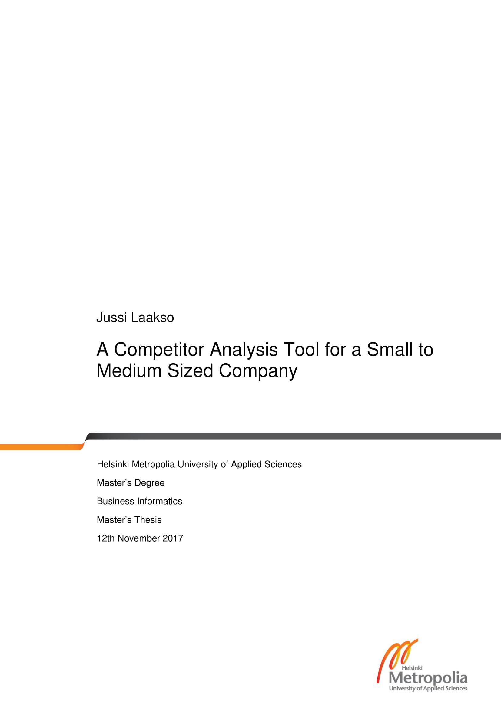 competitor analysis tool for a small to medium sized company example 01