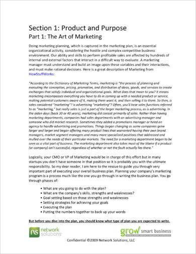 comprehensive marketing plan with executive summary example
