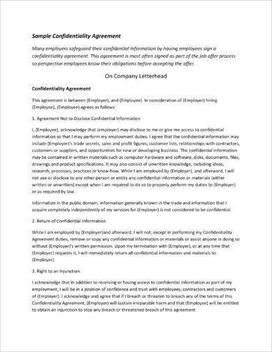 12 Business Confidentiality Agreement Examples Pdf Word Pages