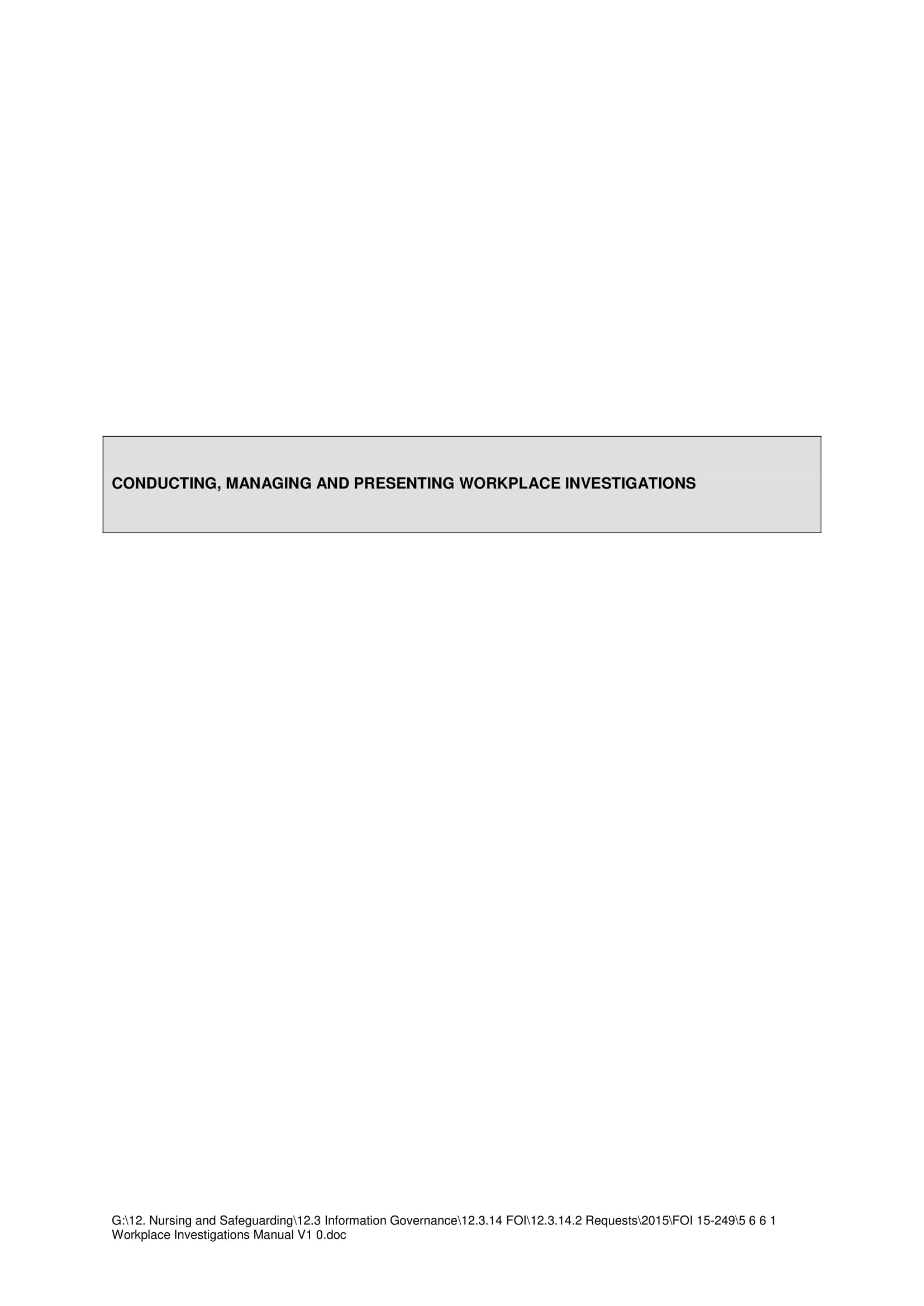 conducting managing and presenting workplace investigations example 01