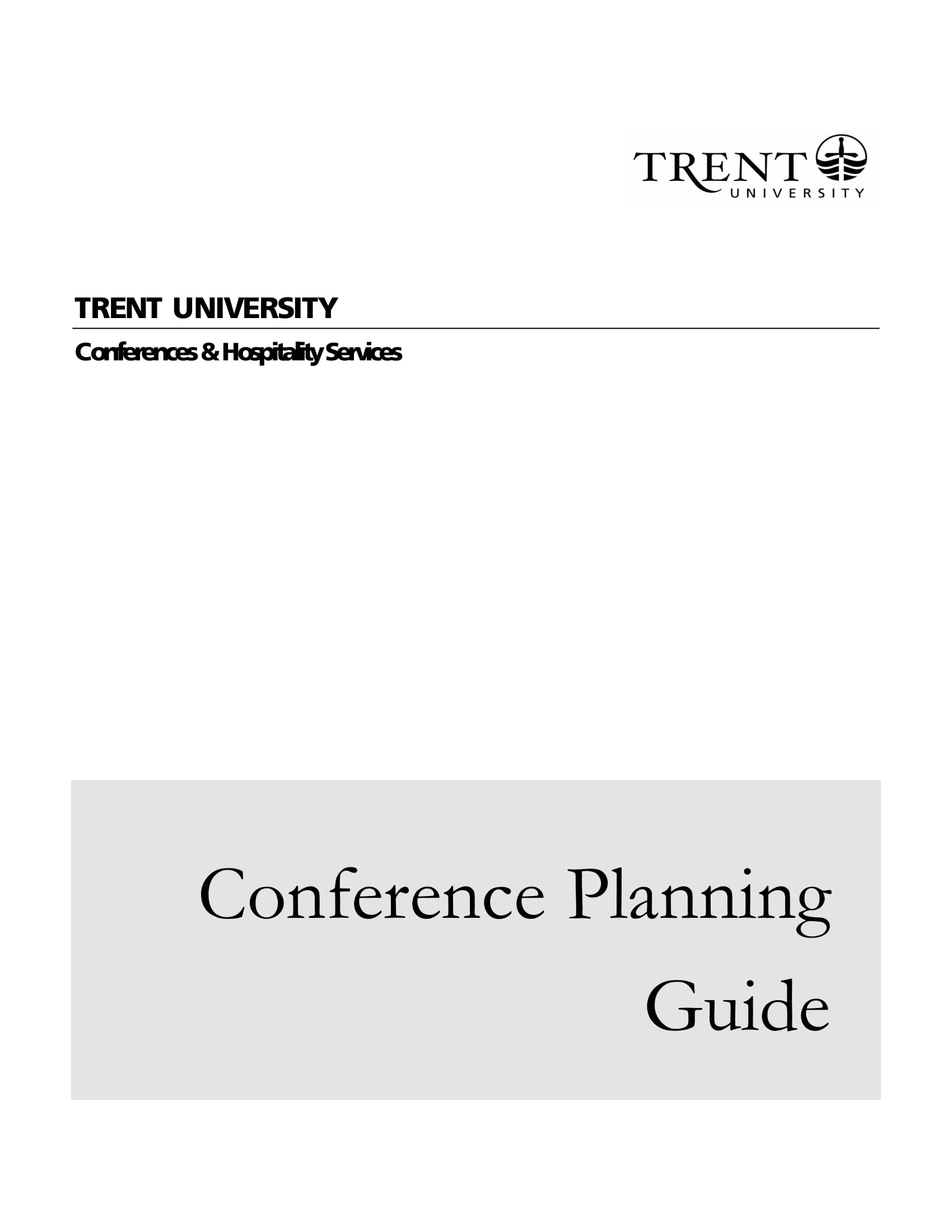 conference planning guide example