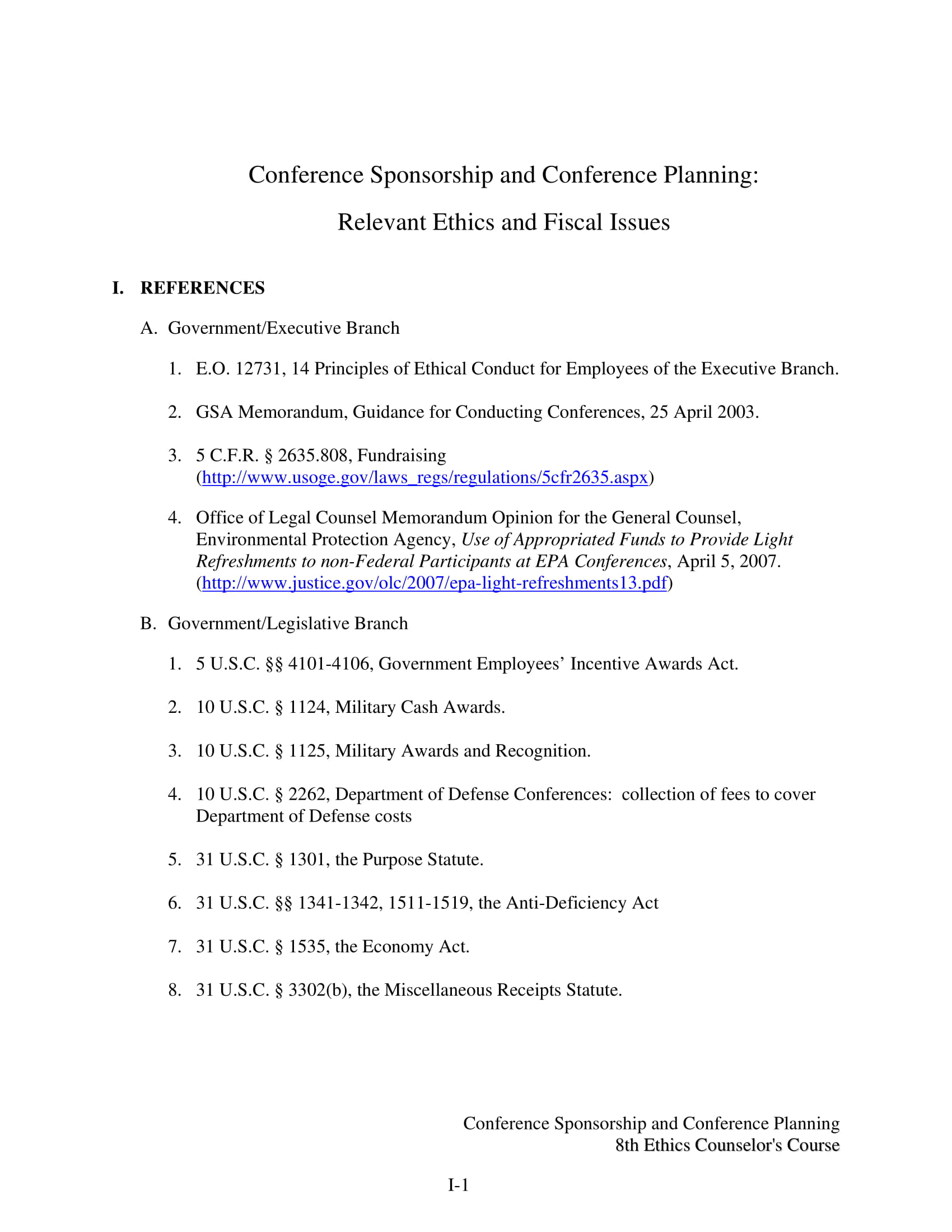 conference sponsorship and conference planning example