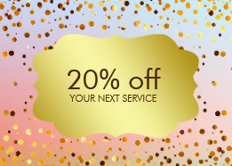 confetti gold coupon card voucher