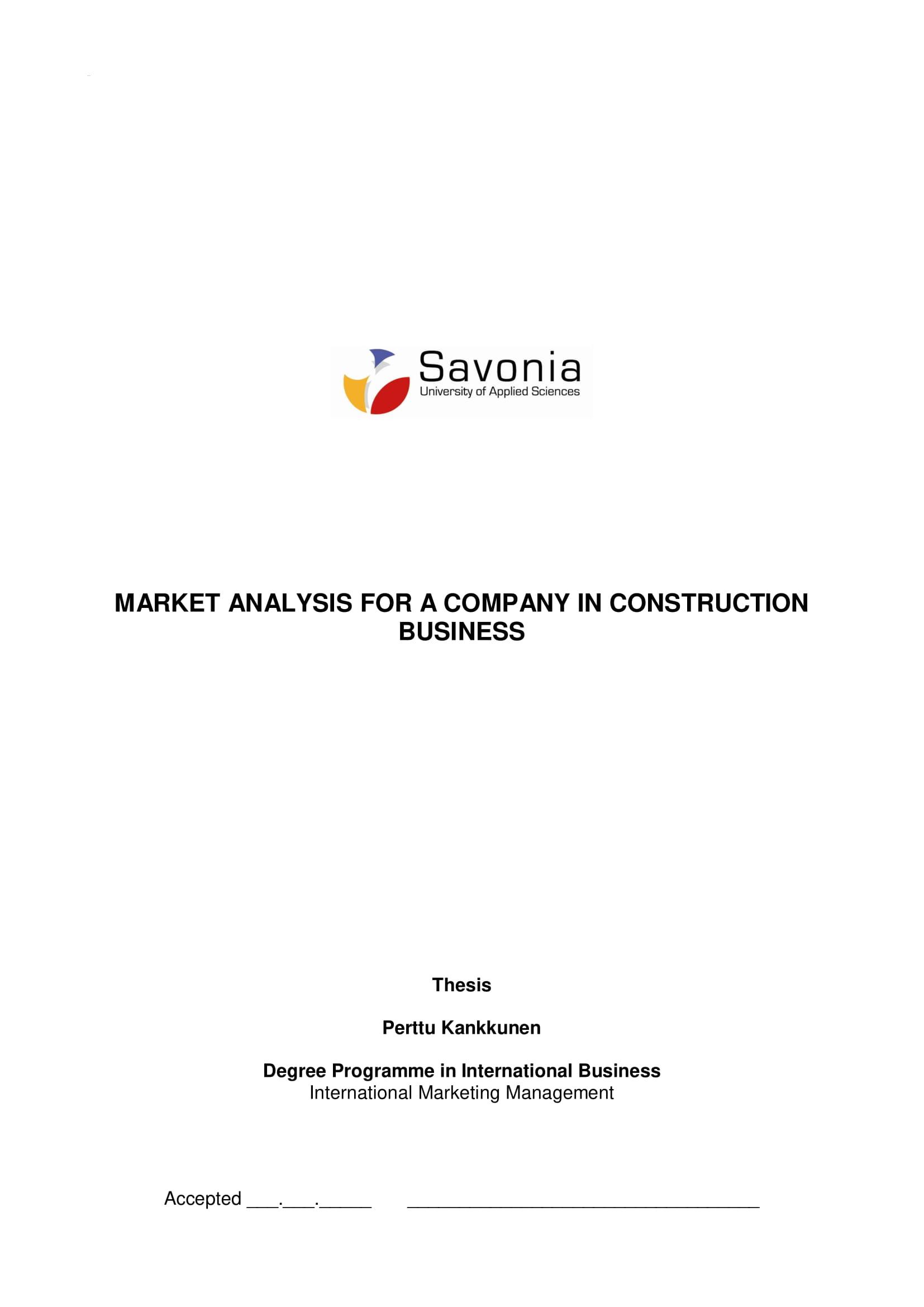 construction company analysis example