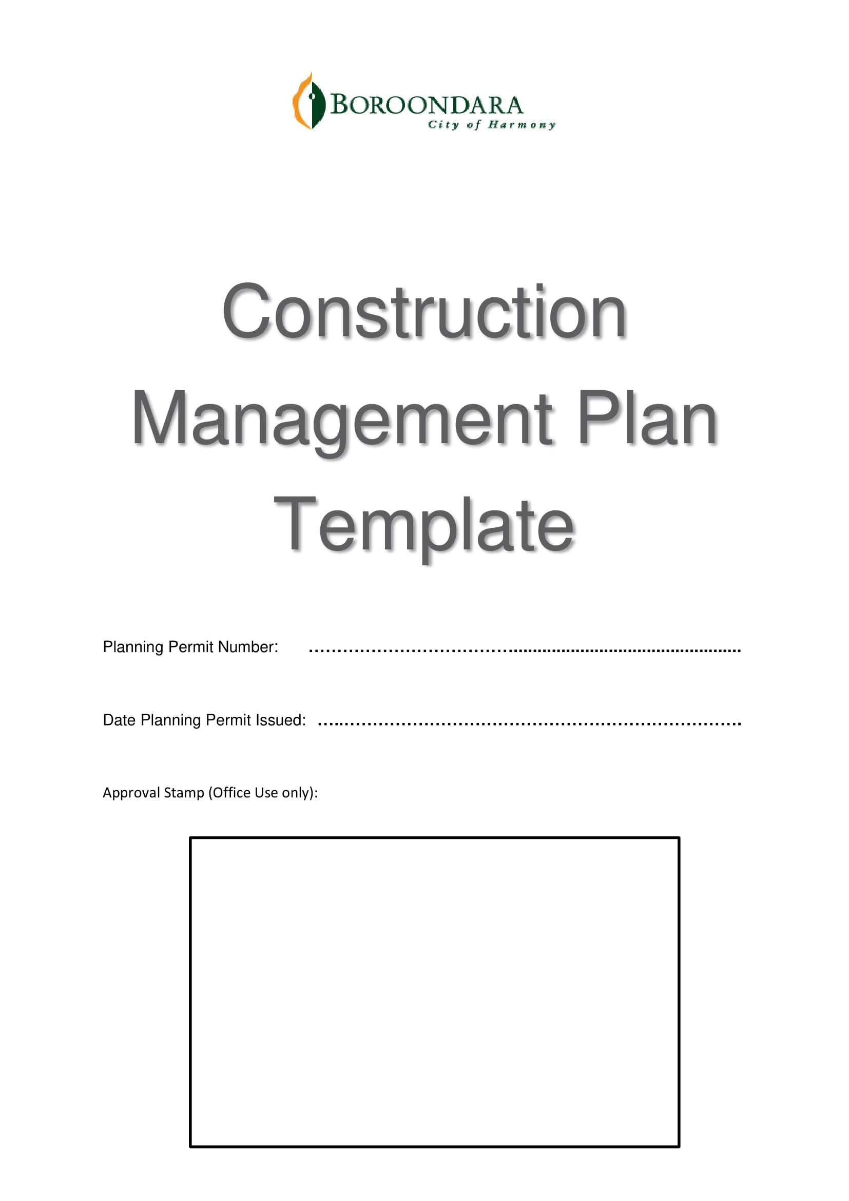 construction management and operational plan template example 01