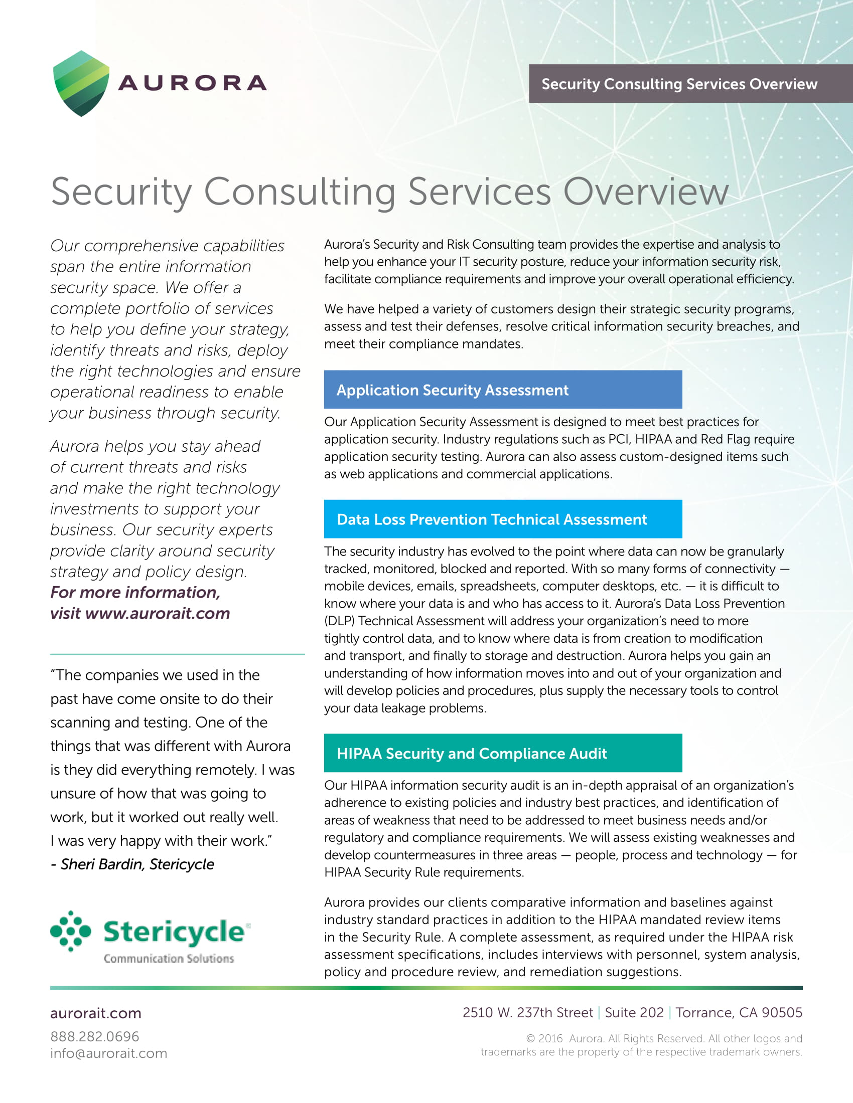 10 Security Consulting Business Plan Examples Pdf Data Policy Example Services Sheet Overview
