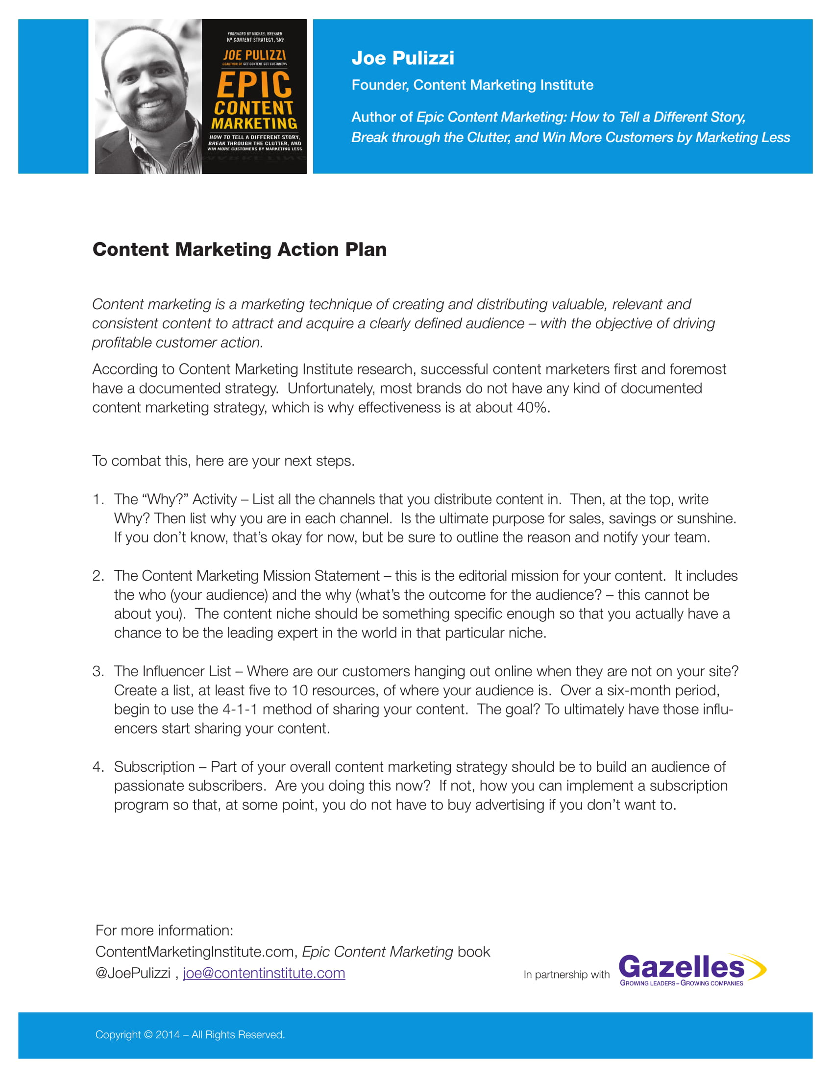content marketing action plan example