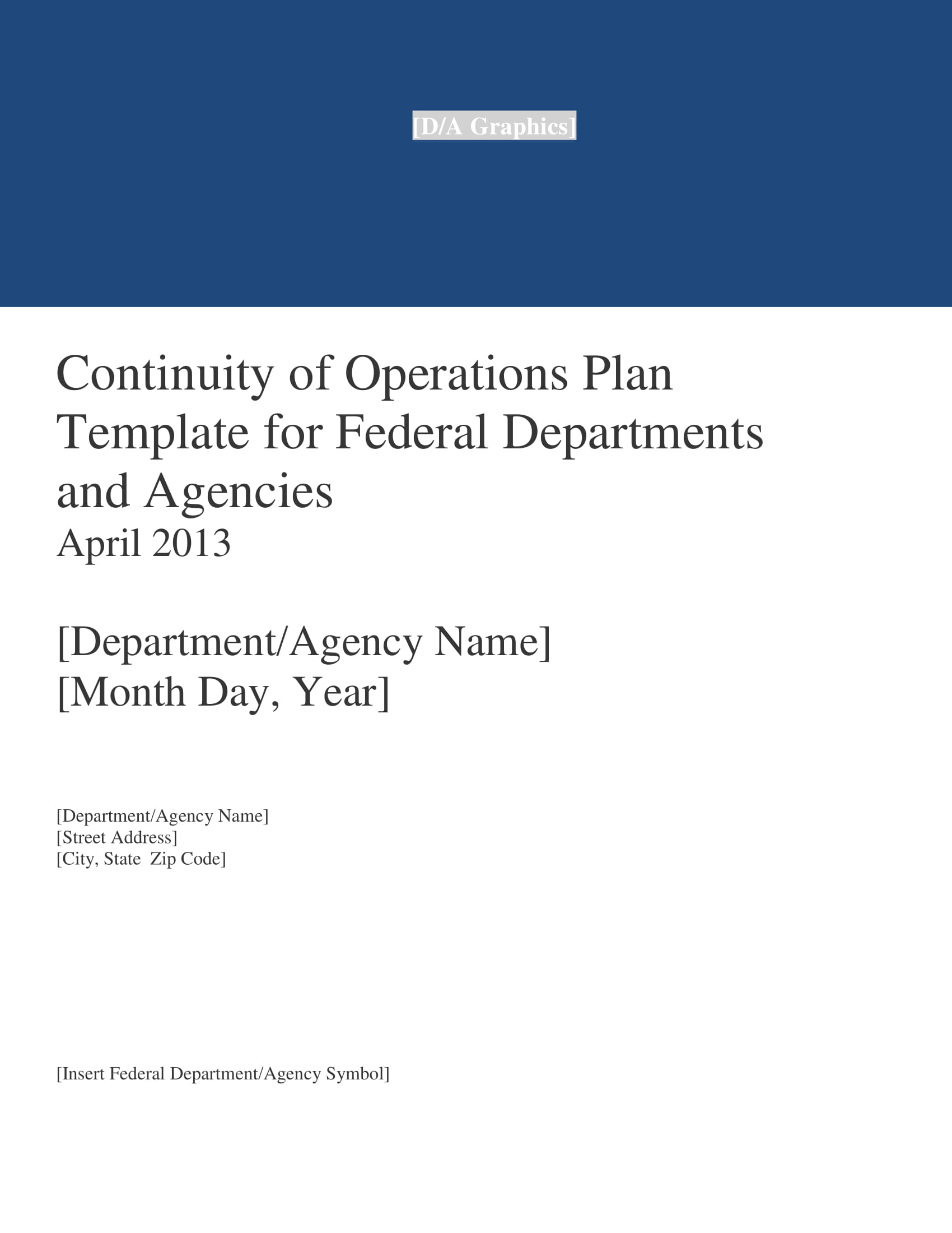 continuity of operations plan template for federal departments and agencies management example 01