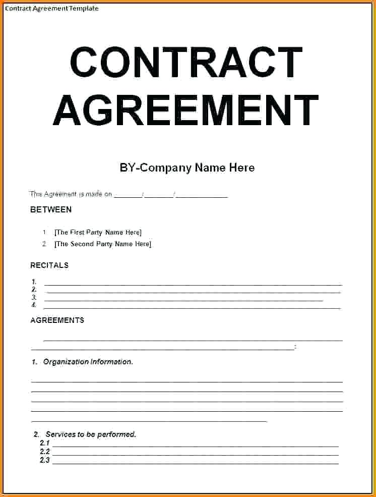 Contract Agreement Letter Examples PDF - Contracts and agreements templates